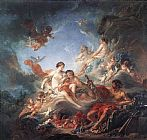 Famous Venus Paintings - Vulcan Presenting Venus with Arms for Aeneas